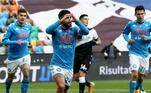 Brigando também no topo da tabela, o Napoli conseguiu uma importante vitória fora de casa contra a Udinese. Insigne abriu o placar batendo pênalti logo no começo da partida, mas ainda no primeiro tempo a equipe de Udine conseguiu o empate com Kevin Lasagna. Mas, no apagar das luzes, Bakayoko marcou e deu o triunfo para o Napoli, que está na quarta colocação do Campeonato Italiano