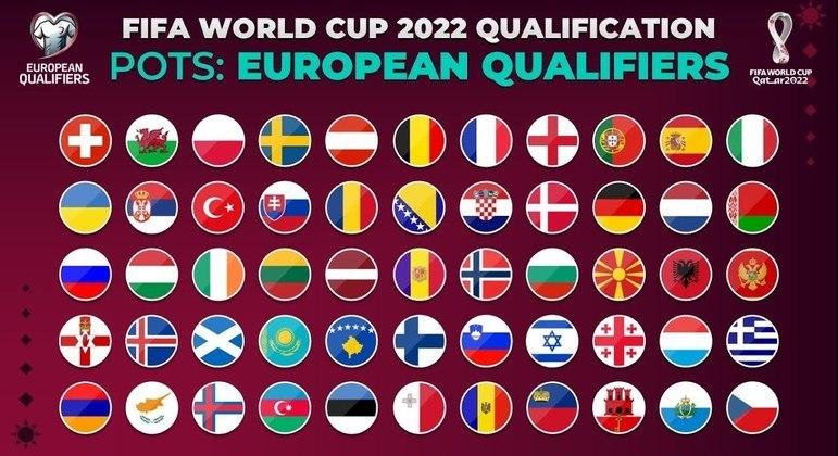 As 55 afiliadas à UEFA
