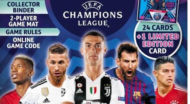 Champions 2018/19, promoções paralelas, uma coleção de cartões