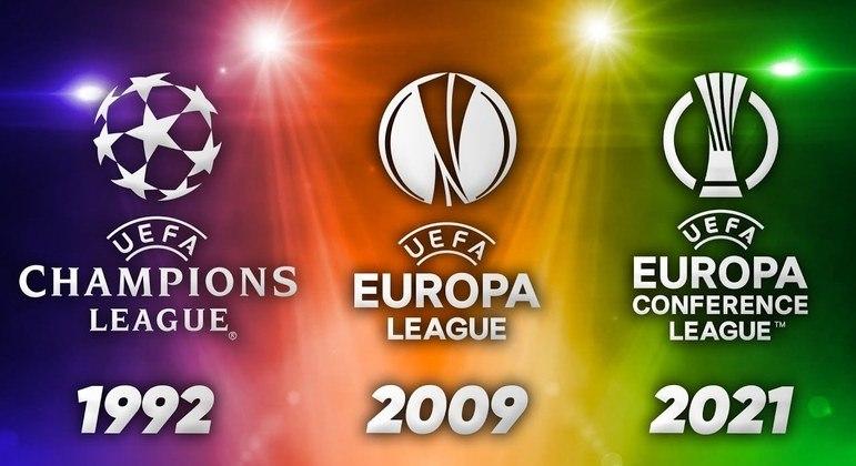 As três competições da UEFA e os anos das suas implantações
