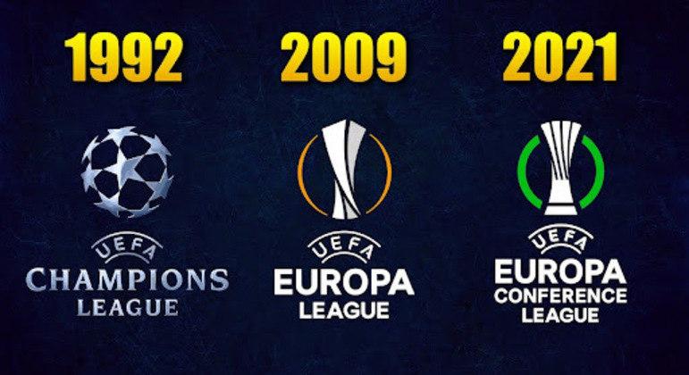 As três Copas da UEFA e as suas datas de implantação