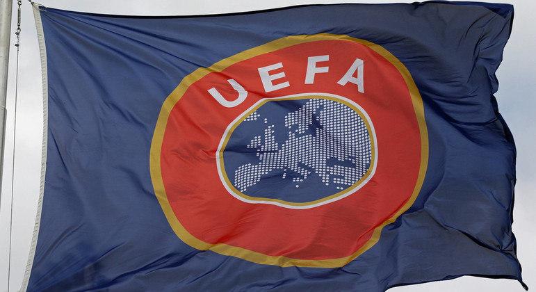A bandeira da UEFA