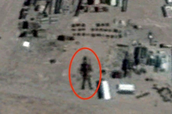 'Quando verifiquei imagens anteriores desse local, notei que a figura se move para o lado', justifica