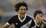 Um dos maiores ídolos da história do Vasco, Roberto Dinamite é o maior artilheiro da história do Brasileiro com 190 gols. Dinamite se aposentou em 93, um ano após Edmundo estrear no ataque vascaíno. Tempo suficiente para disputarem algumas partidas lado a lado e conquistarem o Carioca de 92.