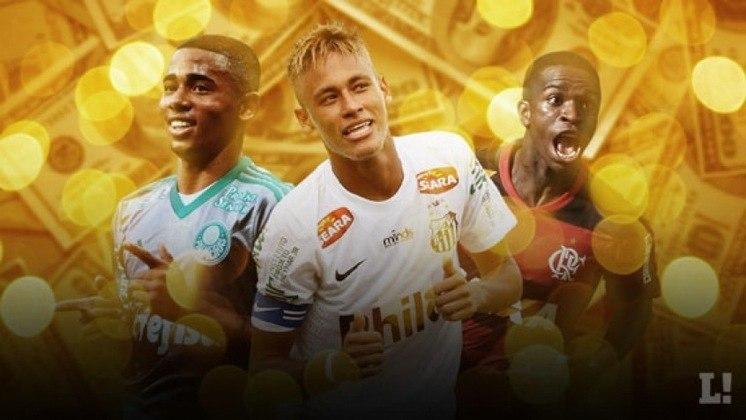 Um estudo da Pluri Consultoria mostrou quais clubes brasileiros faturaram mais com vendas de jogadores entre 2010 e 2019. O LANCE! mostra o resultado nesta galeria