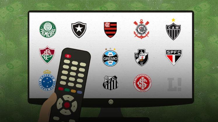 Um estudo da Pluri Consultoria mostrou quanto os principais clubes brasileiros tiveram de faturamento com a TV, de 2010 a 2019. O LANCE! mostra o ranking nesta galeria. (Por Gabriel Santos)