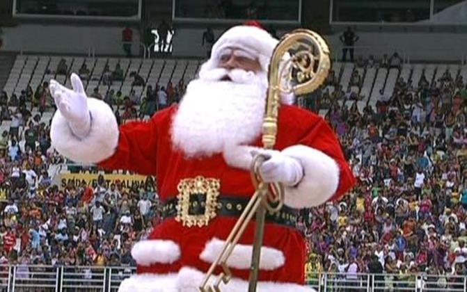 Um evento tradicional no Rio de Janeiro foi a chegada de Papai Noel.