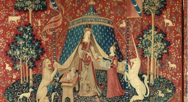 A série de tapeçaria 'A dama e o unicórnio' já inspirou alguns artistas e tem inscrição enigmática: 'Mon seul desir'