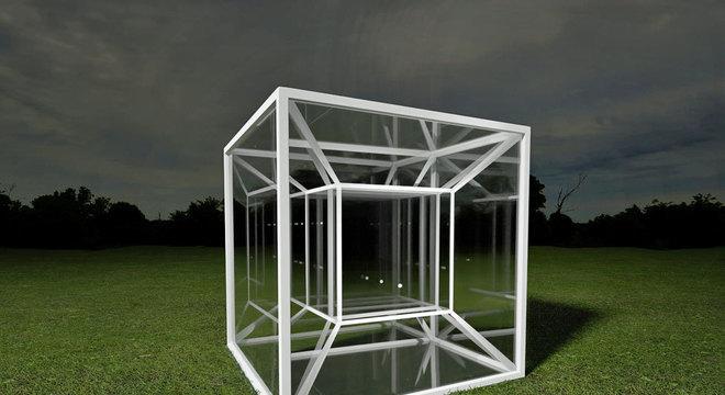 Um tesserato é um análogo de 4 dimensões de um cubo, assim como um cubo é um análogo tridimensional de um quadrado