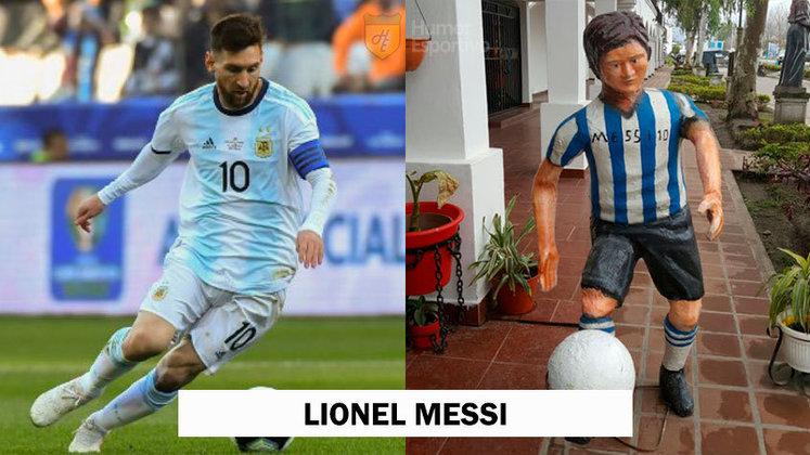 Uma bela escultura que retrata perfeitamente o craque Lionel Messi