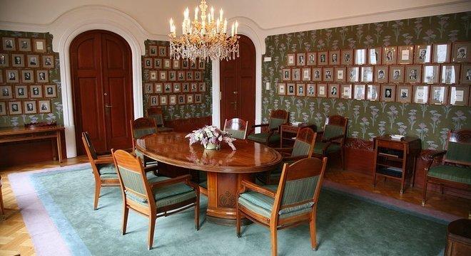 uma das salas do Comitê Nobel da Noruega