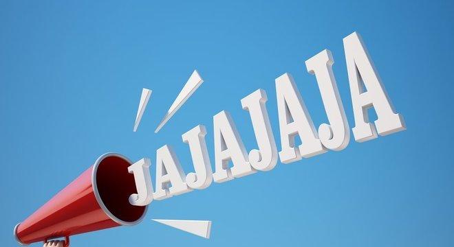 """O mais comum entre os falantes de espanhol é expressas risada como """"jajajaja"""""""