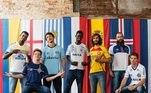 A Umbro lançou a linha Umbro Nations, com camisas personalizadas de nações da Copa do Mundo para equipes brasileiras