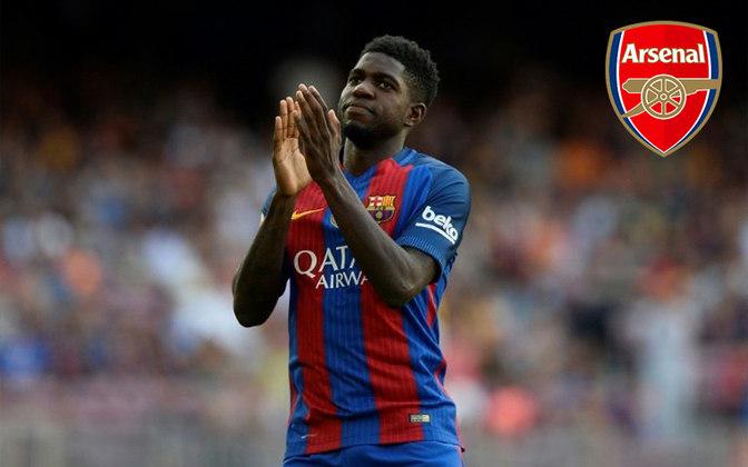 Umtiti. Posição: Zagueiro. Idade: 26 anos. Clube atual: Barcelona. Clube interessado: Arsenall.