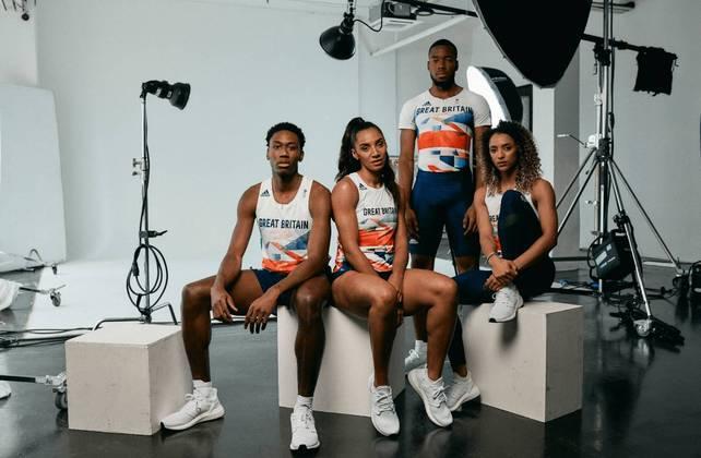 A equipe da Grã-Bretanha divulgou o seu conhecido uniforme tricolor para os Jogos Olímpicos Tóquio 2020. O ensaio fotográfico foi feito em pontos turísticos do Reino Unido