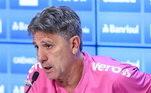 O Grêmio não só lançou sua camisa, como também teve o apoio do técnico Renato Gaucho, que já vestiu a camiseta em coletiva
