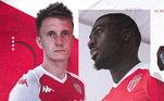 O Monaco é outra equipe que tem um novo Kit para 2020. A equipe traz uma camisa vermelha com a manga, ombro e gola na cor branca