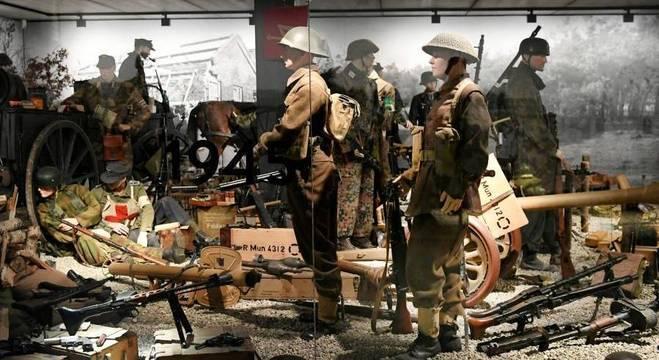 Uniformes, capacetes e armas alemãs da Segunda Guerra Mundial na Holanda