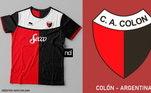 Camisas dos times de futebol inspiradas nos escudos dos clubes: Cólon