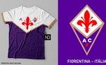 Camisas dos times de futebol inspiradas nos escudos dos clubes: Fiorentina