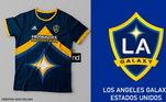 Camisas dos times de futebol inspiradas nos escudos dos clubes: LA Galaxy
