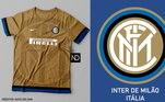 Camisas dos times de futebol inspiradas nos escudos dos clubes: Inter de Milão