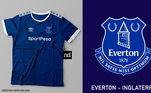 Camisas dos times de futebol inspiradas nos escudos dos clubes: Everton