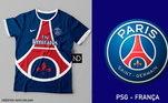Camisas dos times de futebol inspiradas nos escudos dos clubes: PSG