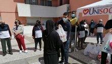 Portugueses afetados pela crise da pandemia recebem alimentos
