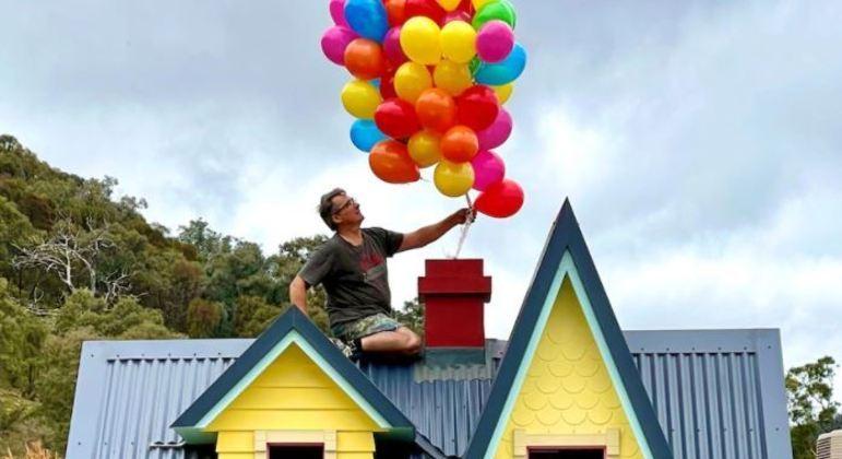 """Pai fez uma réplica da casa da animação """"Up - Altas Aventuras"""", da Pixar"""
