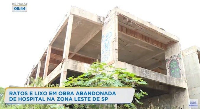 Construção abandonada na zona leste de São Paulo