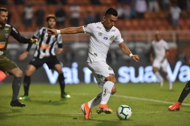 Uribe — Encostado no Santos, o atacante colombiano tem contrato com o Santos até 28/6/2022. O Transfermarkt coloca o valor nele de 1,6 milhões de euros (cerca de R$ 8,9 milhões)