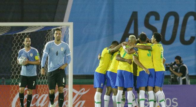 O Brasil mostrou muita consciência e intensidade. O Uruguai não suportou