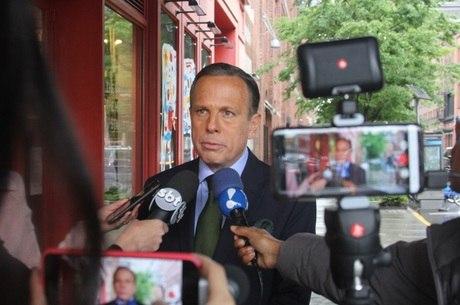 O governador de São Paulo, João Doria, em Nova York
