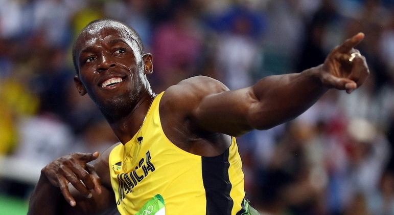 Usain Bolt em foto da Olimpíada do Rio em 2016