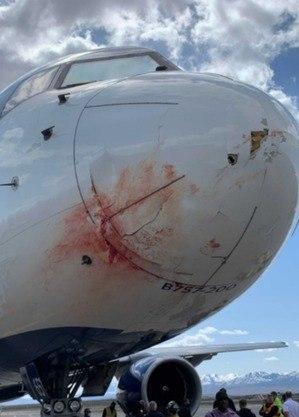 Avião do Utah Jazz após incidente