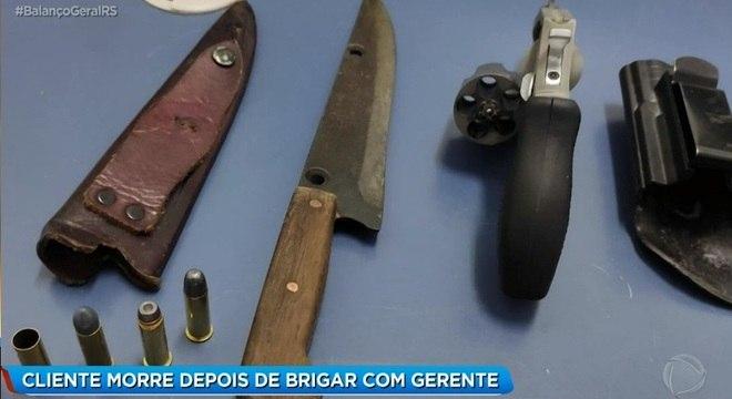 Armas usadas no crime