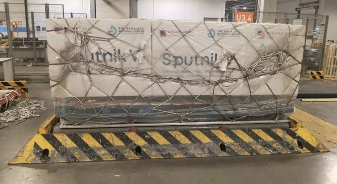 300 mil doses da vacina russa Sputnik V chegaram à Argentina nesta quarta-feira (23)