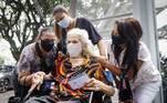 No dia 15 de fevereiro, começa a vacinação de um segundo grupo, entre 85 a 89 anos. Segundo o Governo de São Paulo, no total, serão imunizados 206 mil idosos acima de 90 anos e outros 309 mil com mais de 85 em todo o estado