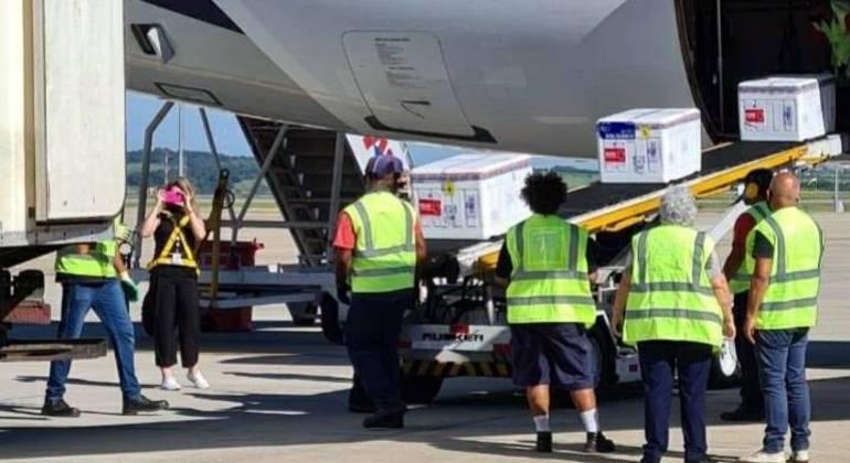 Aeronave desembarcou no Aeroporto de Confins nesta quarta-feira (17)