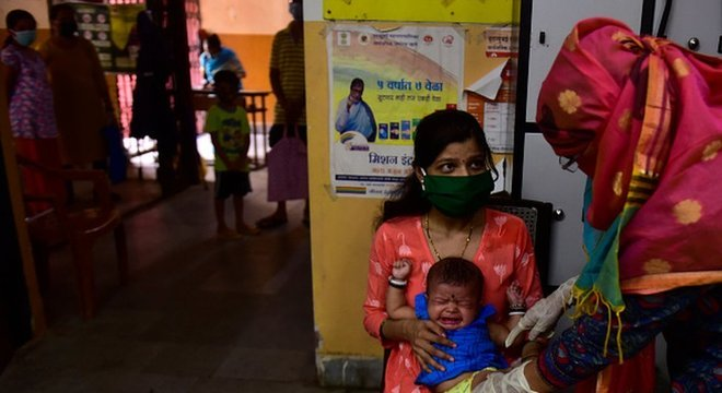 Programa de imunização da Índia é um dos maiores do mundo