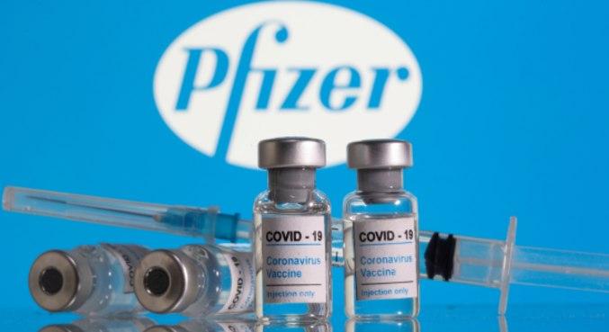 Frascos de vacina contra covid-19 da Pfizer