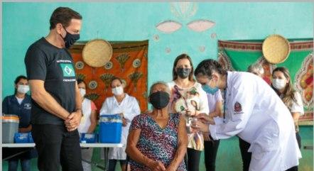 Governador João Doria participa de vacinação em quilombola