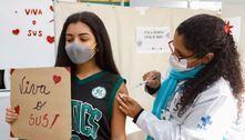 Mais de um milhão de adolescentes são vacinados contra a covid-19
