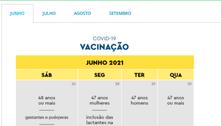 Confira o cronograma de vacinação neste sábado (26) em dez capitais