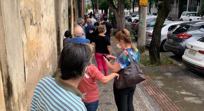 Acompanhantes registraram aglomeração na região Centro-Sul de BH