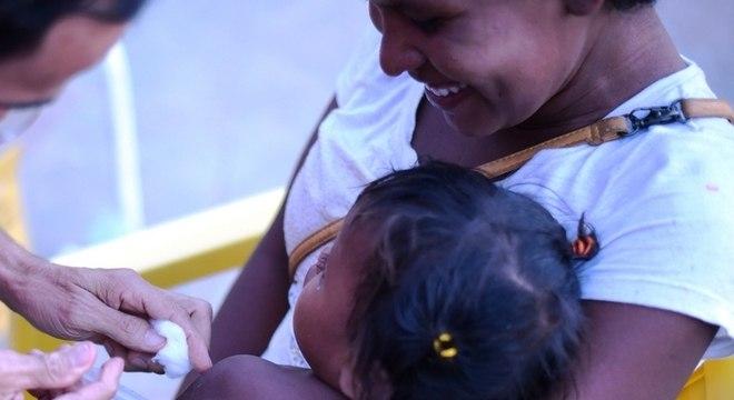 A vacinação contra o sarampo em Roraima teve início em março