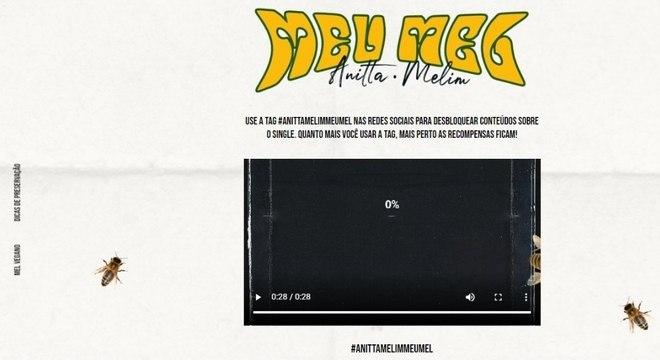 Anitta e Melim lançam site para a divulgação de nova parceria,