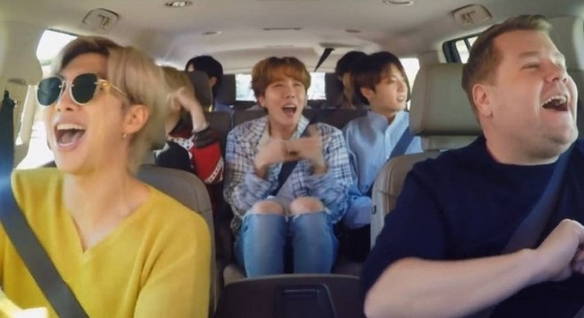 BTS invade aula de dança com James Corden no Carpool Karaoke. Confira!