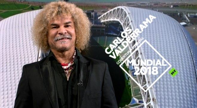 Comentarista na Copa, Valderrama raspará cabeleira se Colômbia for campeã
